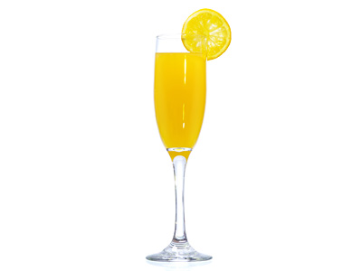 champagne and orange juice