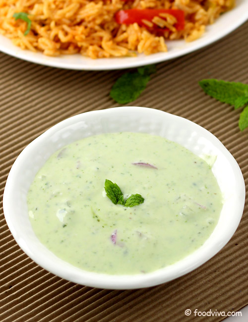 Mint raita recipe with step by step photos how to make pudina raita mint raita pudina raita forumfinder Gallery