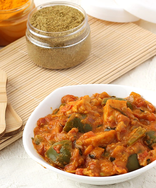 Easy kadai paneer recipe spicy paneer curry with thick gravy gravy kadai paneer recipe forumfinder Image collections