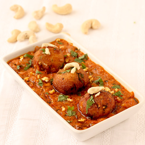 Paneer Kofta Recipe Stuffed Paneer Kofta Curry With Tomato Gravy