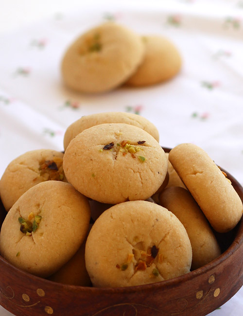 Brilliant Nan Khatai Recipe Eggless Buttery Indian Cookies Step By Step Easy Diy Christmas Decorations Tissureus