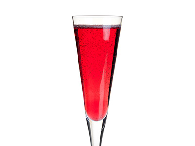 Pomegranate Juice and Champagne Drink