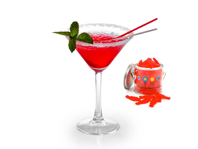 Swedish Fish Martini