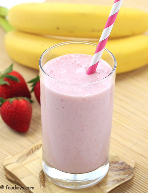 Strawberry Banana Milkshake Recipe - A Creamy Journey on ...