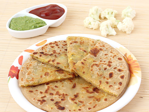 Image result for gobhi ka paratha making