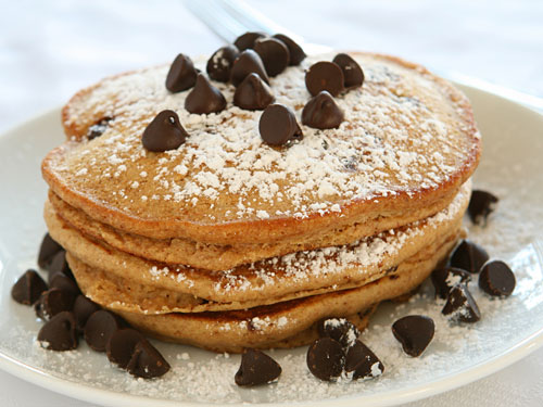 Chocolate chip pancake recipe make best homemade chocolate chocolate chip pancakes ccuart Gallery