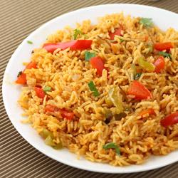 Capsicum Rice (Capsicum Pulao)