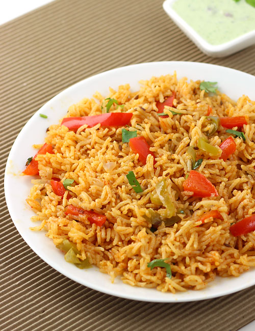 How to make Capsicum Rice (Bell Paper Pulao)