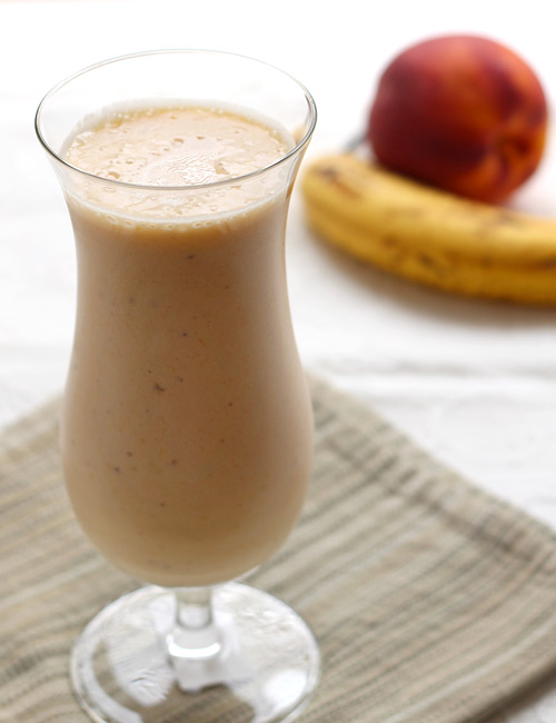 Peach Banana Smoothie without Yogurt