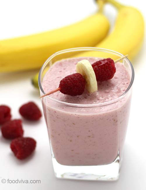 Raspberry Banana Smoothie Recipe
