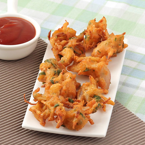 Onion Pakoda - Crispy Onion Fritters - Recipe with Step by Step Photos