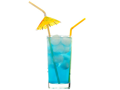 Blue Lagoon Cocktail Refreshing Cocktail Drink With Vodka And Blue Curacao