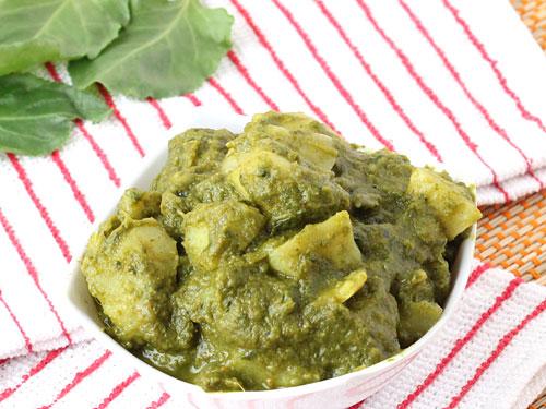 Aloo Palak Gravy