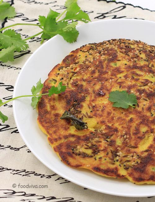 Gujarati Handvo Recipe using a Pan