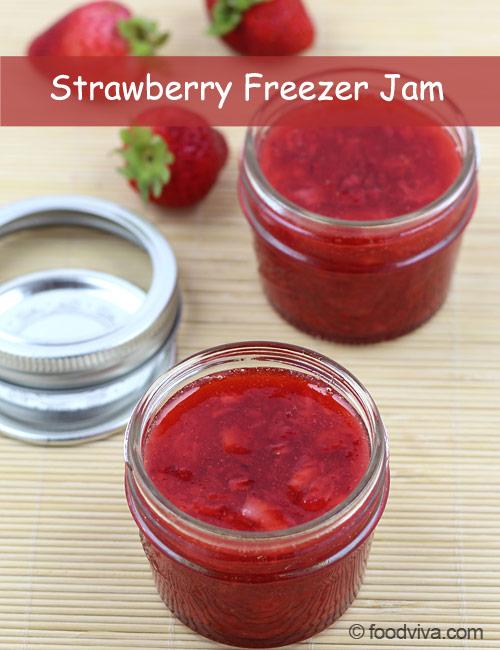 No Cook Strawberry Freezer Jam
