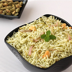 Pudina Rice (Mint Pulao)