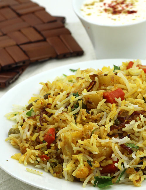 Vegetable Biryani Recipe Hyderabadi Veg Dum Biryani Step By Step Photos