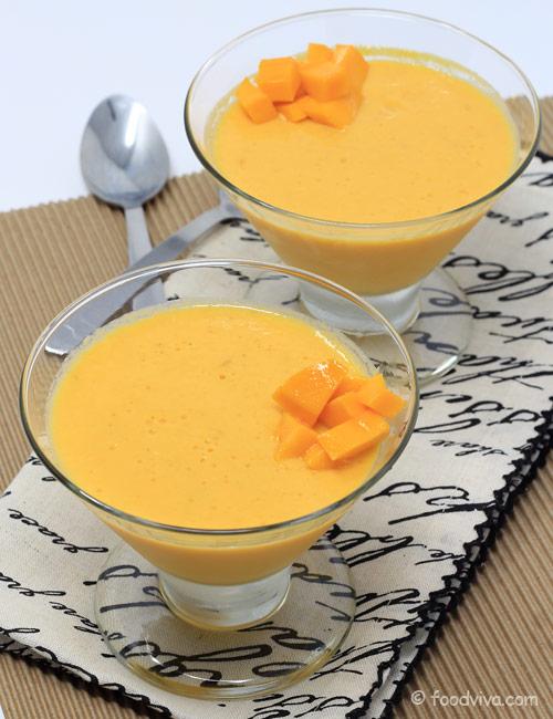 Mango Pudding Recipe with Mango Pulp