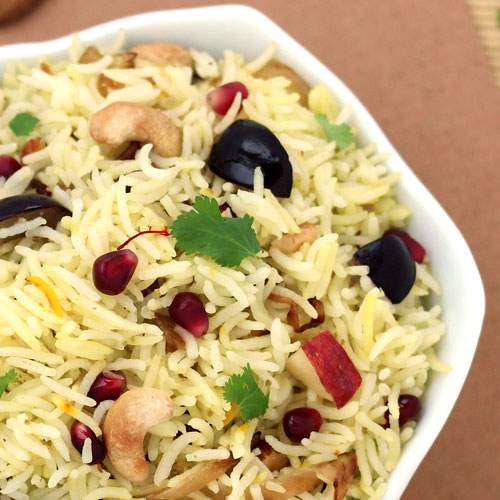 Saffron Flavored Kashmiri Rice