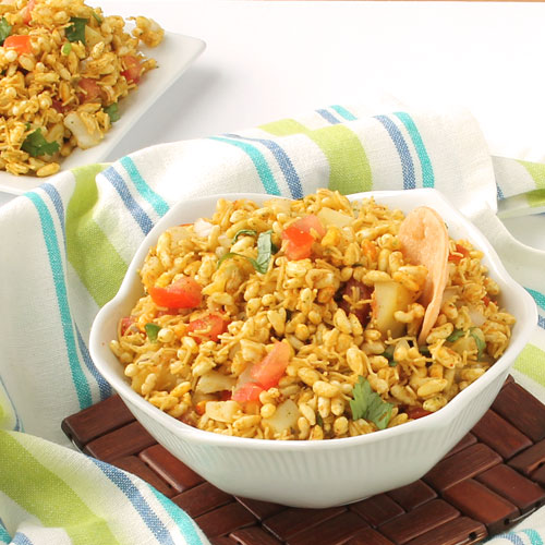 Bhel Puri Recipe Famous Indian Bombay Chaat With Papdi And Puffed Rice