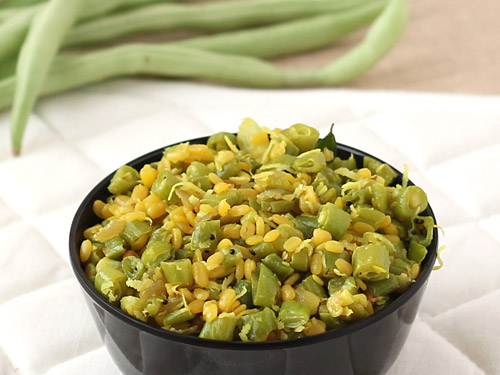South Indian Beans Poriyal